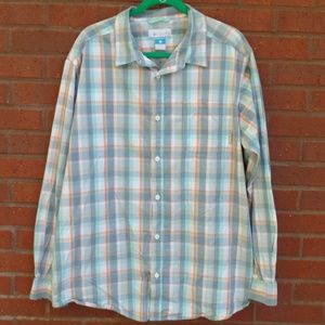 Columbia Plaid Button Down Long Sleeve Shirt XL